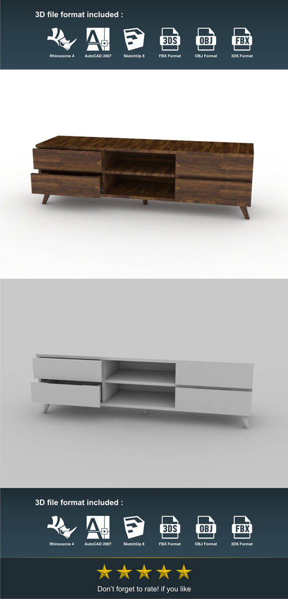 TV Cabinet - 3DOcean Item for Sale