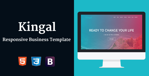 Kingal - Responsive Business Template - Technology Site Templates