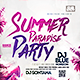 Summer Paradise Party Flyer - GraphicRiver Item for Sale