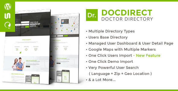 DocDirect – Responsive Directory WordPress Theme for Doctors and Healthcare Profession