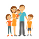 Mother and Father with Children - GraphicRiver Item for Sale