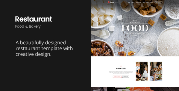 Deliver Restaurant | Food & Restaurant HTML Template