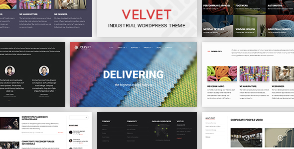Velvet - Textile Industry Business WordPress Theme For Garments & Apparel Industry Base Website