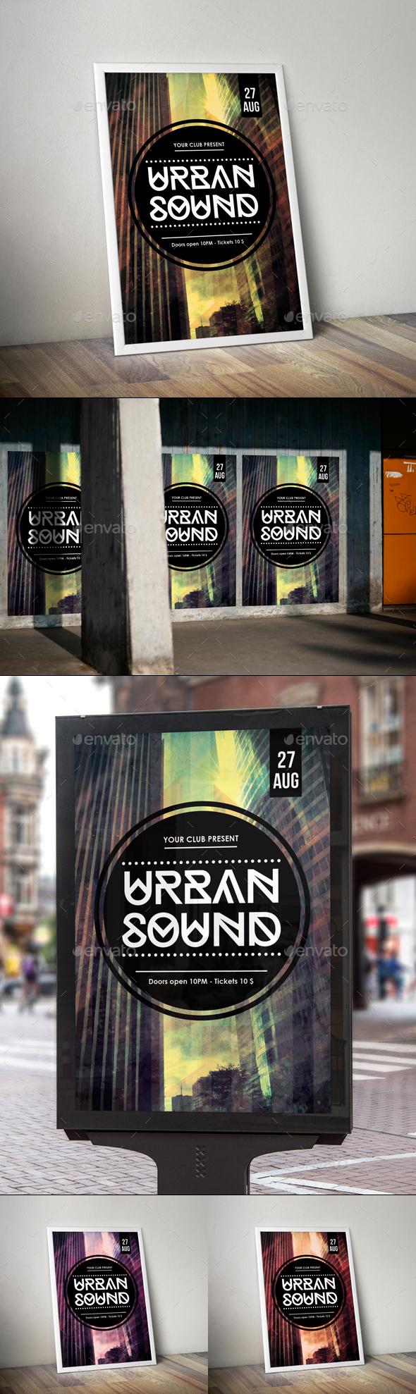 Urban Sound Flyer Poster