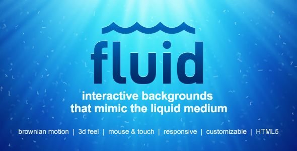 Fluid | Interactive Animated Backgrounds - CodeCanyon Item for Sale