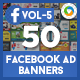 Facebook AD Banners Vol-5  - 25 Designs - 2 Sizes Each - GraphicRiver Item for Sale