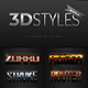 3D Photoshop Text Effects Bundle Five - GraphicRiver Item for Sale