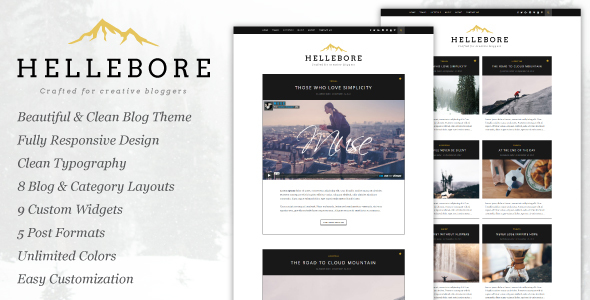 Hellebore – A Responsive WordPress Blog Theme