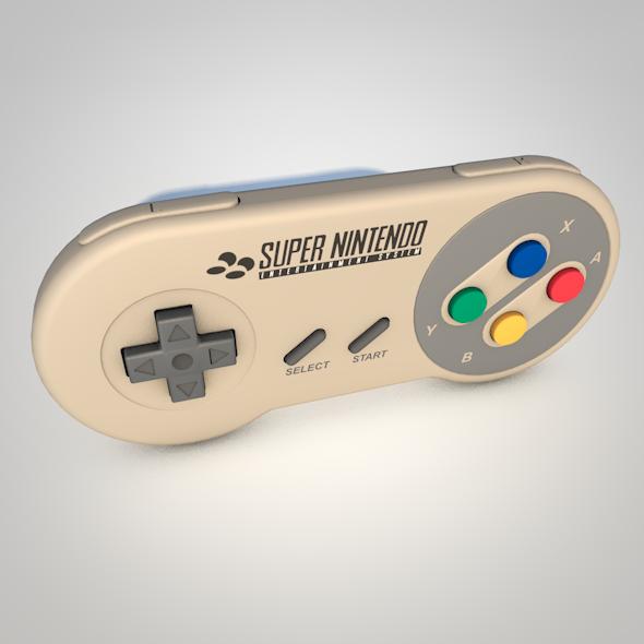 Super Nintendo Controller - 3DOcean Item for Sale