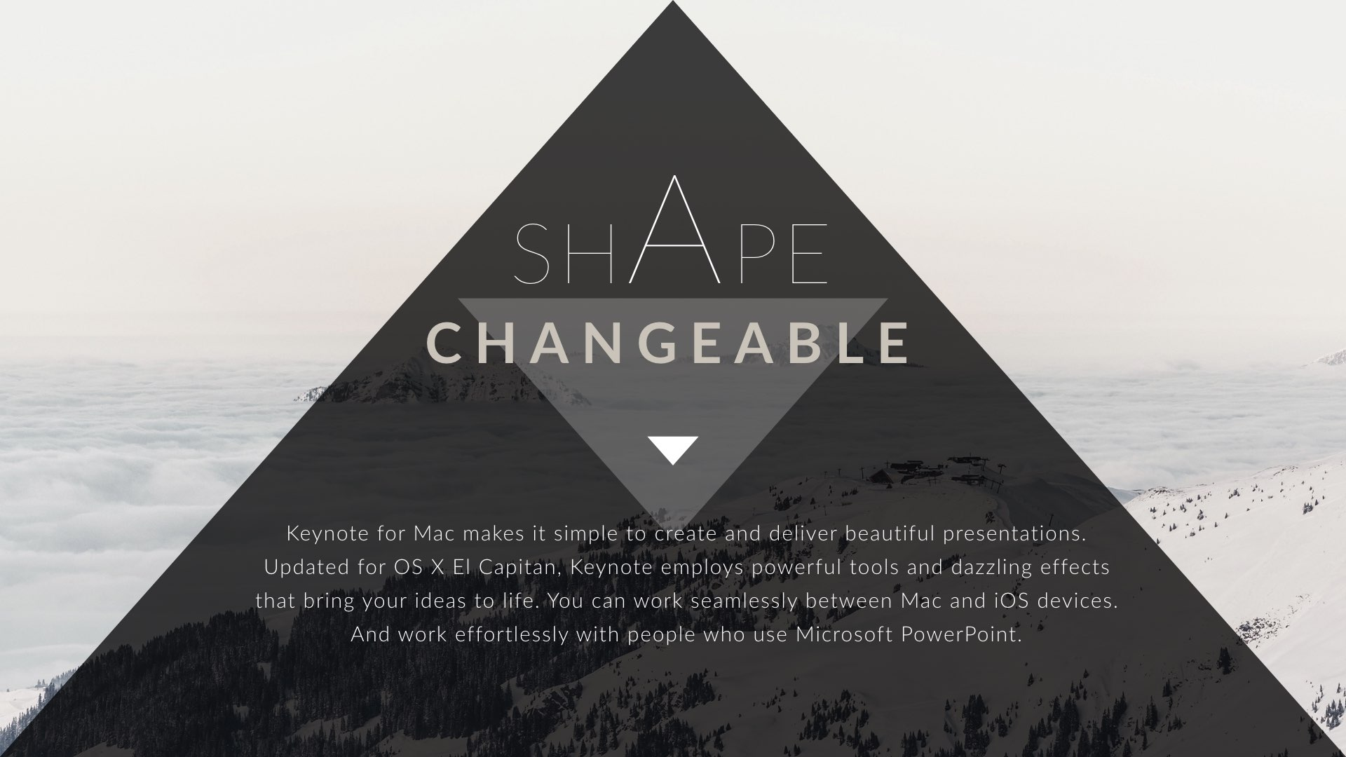 triangle clean trend powerpoint presentation