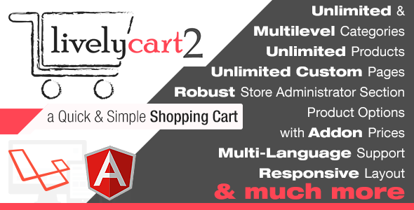 LivelyCart 2 - a Quick and Simple JavaScript PHP Shopping Cart