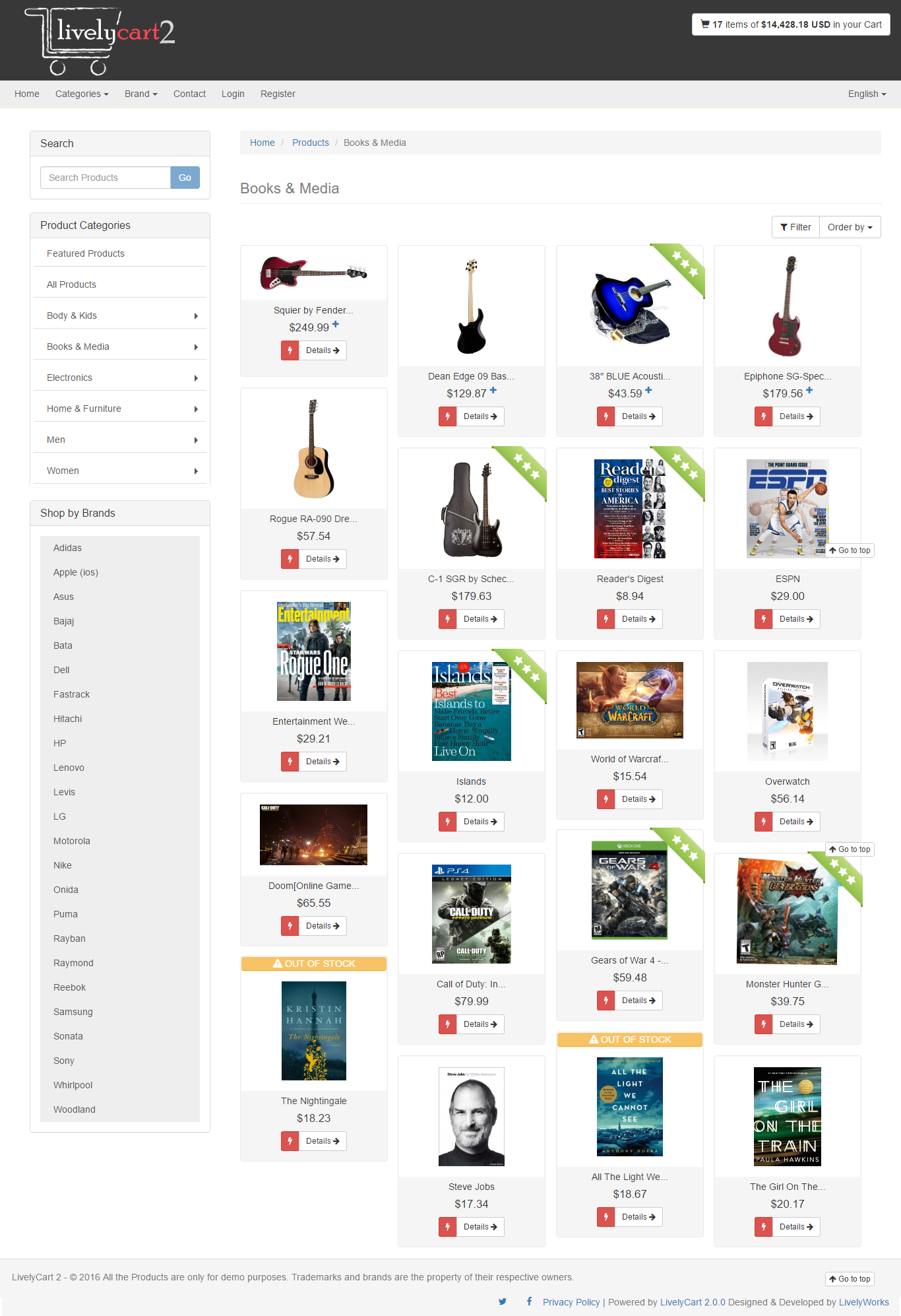 Livelycart 2 A Quick And Simple Javascript Php Shopping Cart By