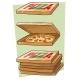 Set Of Cartoon Cool Pizza And Box - GraphicRiver Item for Sale