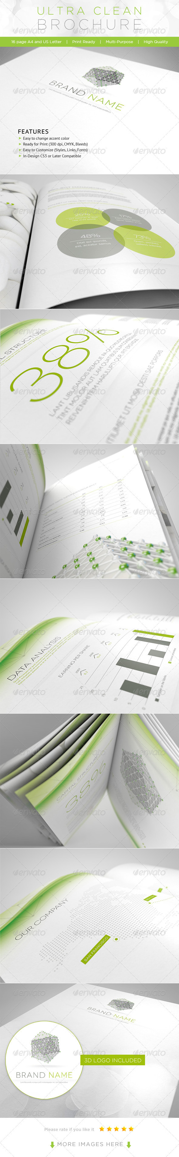 Ultra Clean Brochure - Corporate Brochures