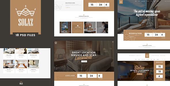 Solaz – An Elegant Hotel & Lodge PSD Template