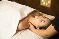 Portrait of Beautiful Asian Woman having relaxing massage in Spa - PhotoDune Item for Sale