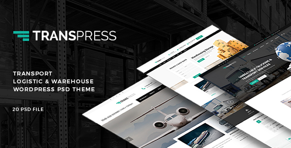 Download Free Transpress - Transport, Logistics & Warehouse PSD Template
