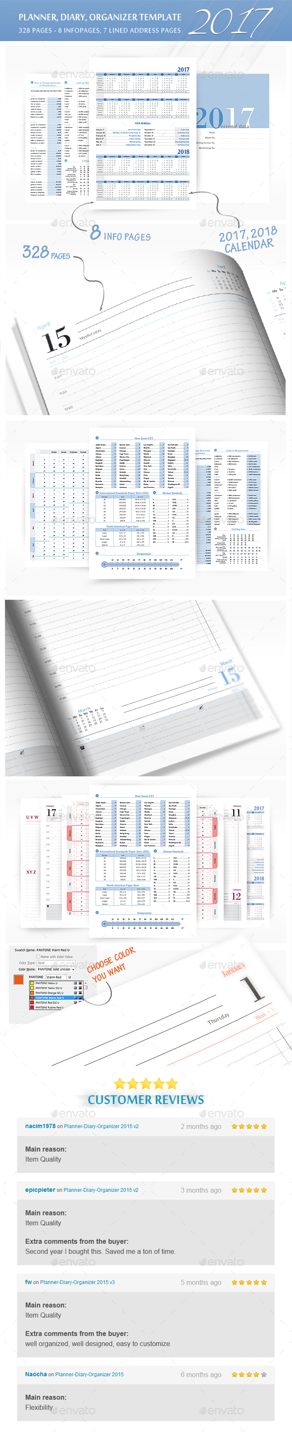 planner diary organizer 2017 by leroiv graphicriver