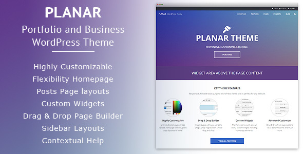 Planar – Business Portfolio Multi-Purpose WordPress Theme