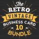Mega 10 in 1 Bundle - Retro Vintage Business Card Template - GraphicRiver Item for Sale