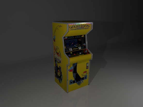 Low poly arcade machine - 3DOcean Item for Sale
