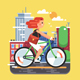 City Bike Ride - GraphicRiver Item for Sale
