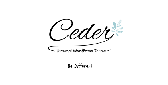 Ceder - Personal WordPress Blog Theme