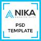 Anika Fashion Shop  PSD Template