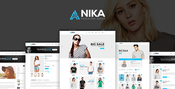 Anika Fashion Shop  PSD Template