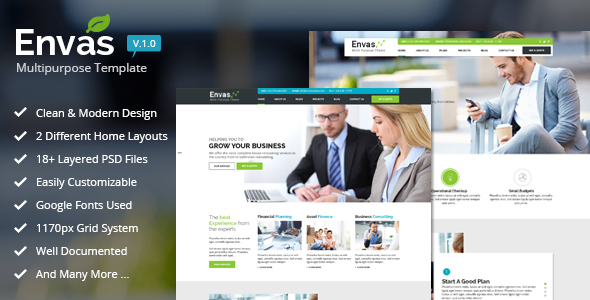 Envas - Multipurpose Business  - Business Corporate