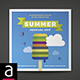 Square Tri-fold Festival Brochure - GraphicRiver Item for Sale