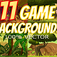 11 Game Backgrounds - GraphicRiver Item for Sale
