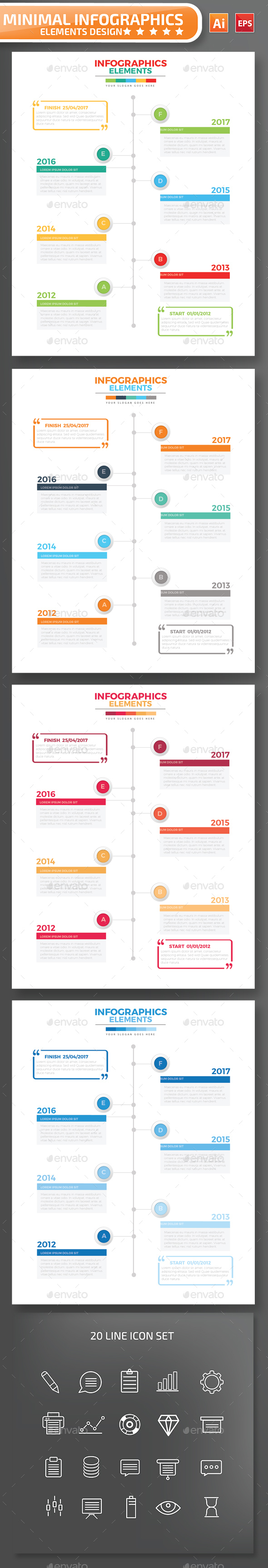 Minimal Timeline infographic Design