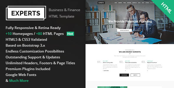 Experts - Multipurpose Business & Finance HTML5 Template