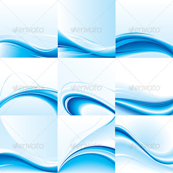 Abstract Vector Background Set - Characters Vectors