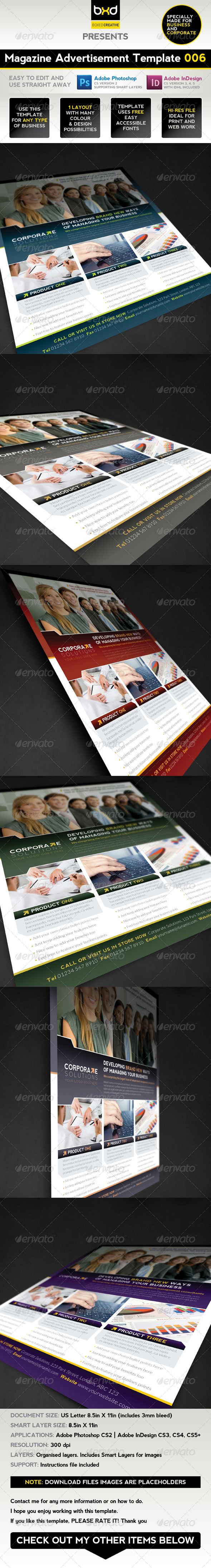Magazine Advert Template 006 - Corporate Flyers