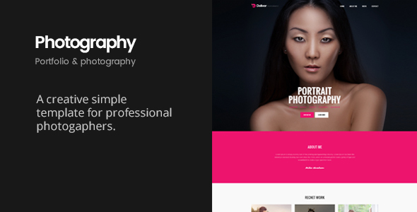 Deliver Photography | Portfolio & Photography HTML Template