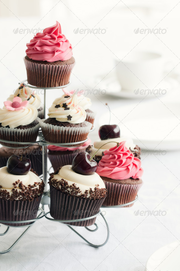 Cupcake stand - Stock Photo - Images
