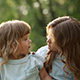 Two Cheerful Sisters Hug. Family Time - VideoHive Item for Sale