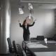 Girl Throwing Paper - VideoHive Item for Sale