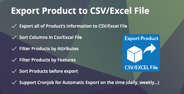 Download Prestashop Export Product to CSV/Excel File Module nulled version