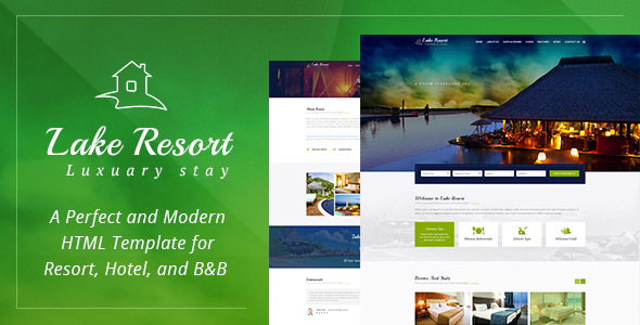 Lake Resort : Resort and Hotel HTMl Template