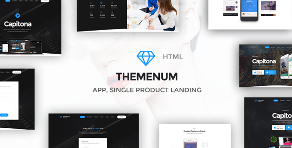 Themenum – Multi-Purpose App Showcase Responsive HTML Template
