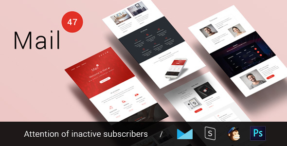 Mail 47 - Multipurpose & Responsive Email Template + Builder