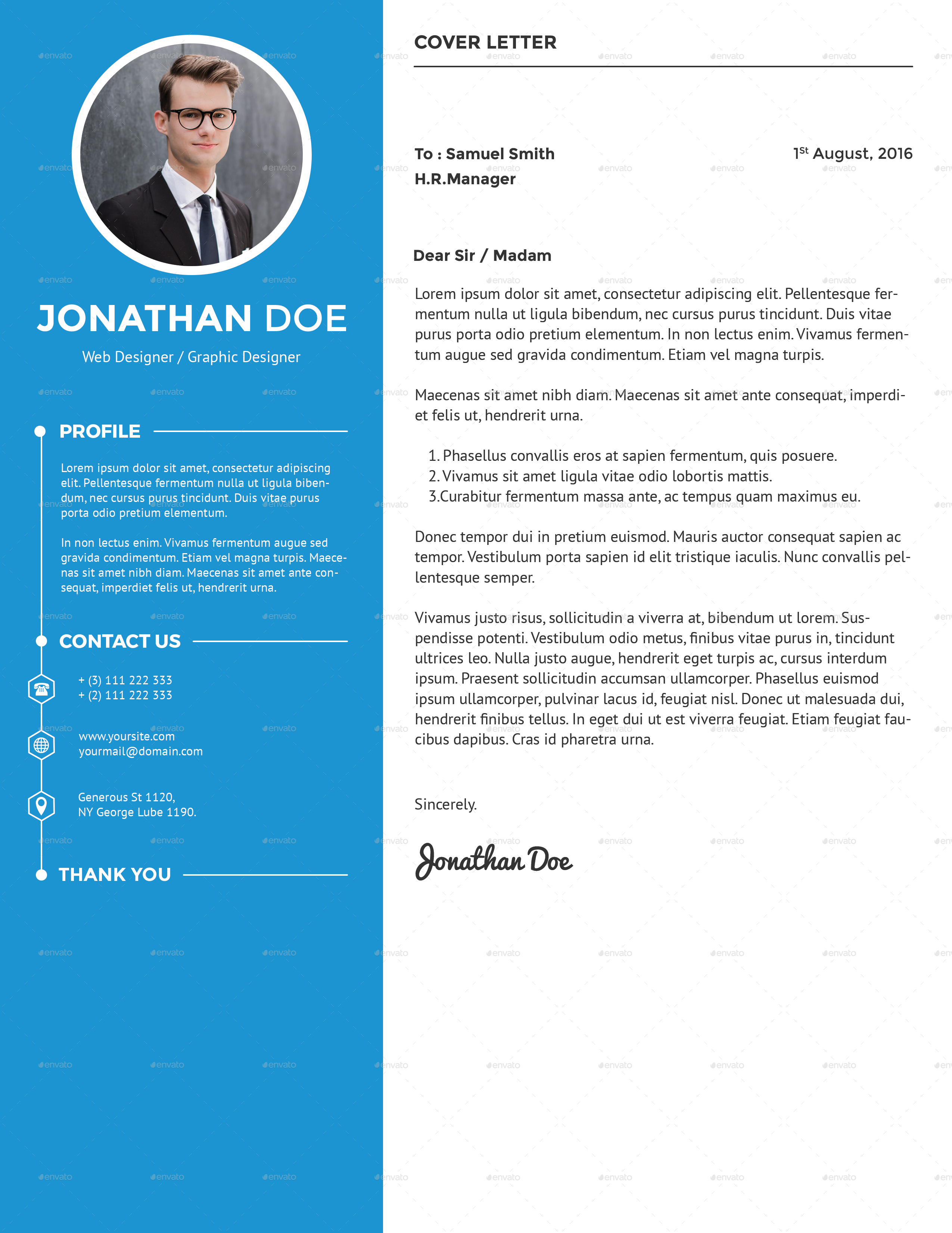 clean creative resume by suavedigital graphicriver