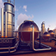 Industrial Complex in The Desert - VideoHive Item for Sale