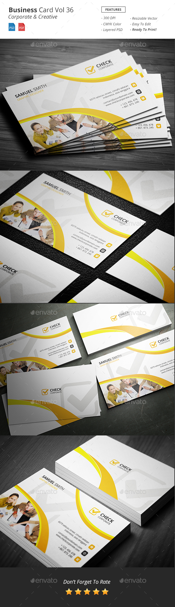 Corporate Business Card Vol 36 - Corporate Business Cards