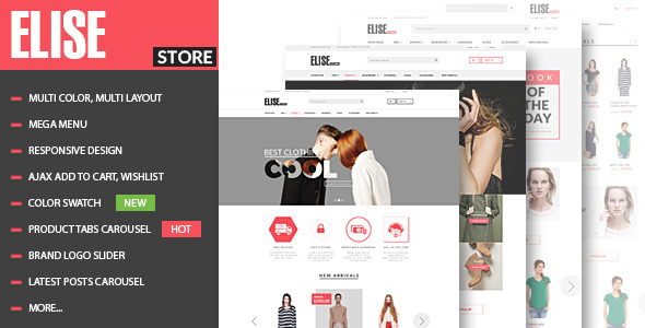 Elise - Fashion WooCommerce WordPress Theme - WooCommerce eCommerce
