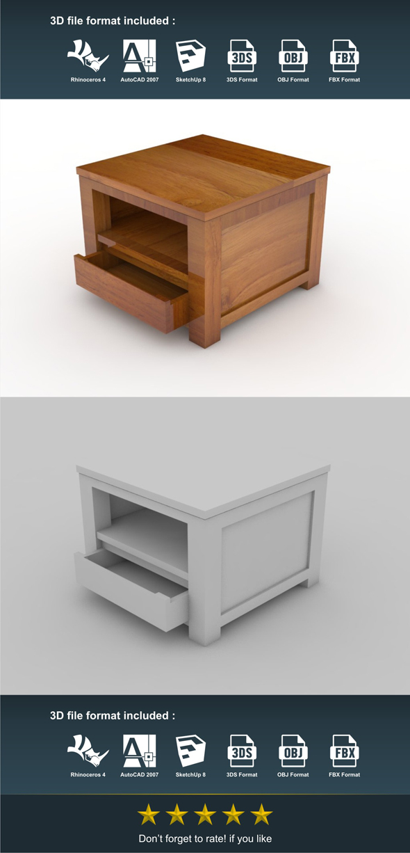 Lesehan Table - 3DOcean Item for Sale