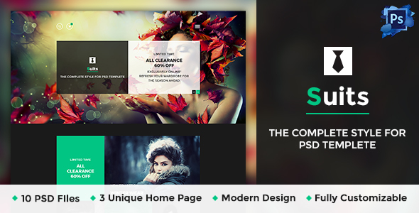 Suits – Business Portfolio Psd Template